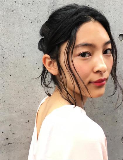 後毛でオシャレ感をプラスしたデイリーアレンジスタイル☺︎ nora hair salon所属・たゆのスタイル