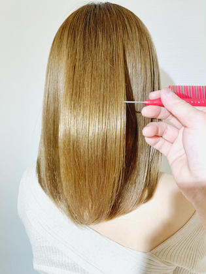 ✨ブリーチしても美髪にしたい方✨カット+ケアブリーチ+ケアカラー+oggiotto+コテ仕上げ✨韓国、韓国風、ヨシンモリ