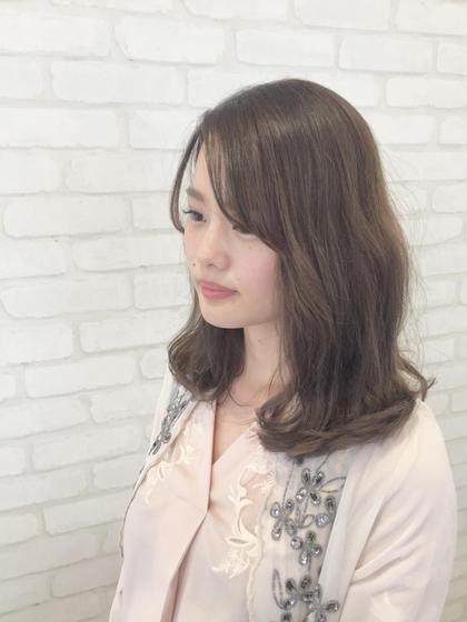 透明感のある【シナモンベージュ】で柔らかく仕上げました⭐️ HAIR&MAKE EARTH宮崎昭栄店所属・アカミネリュウタロウのスタイル