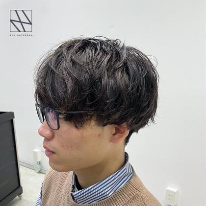 🔥🇰🇷おしゃれ男子はコレ!🇰🇷🔥韓国風ニュアンスパーマ💥+似合わせデザイン韓国風カット+髪質改善高保湿4STEPトリートメント🌿
