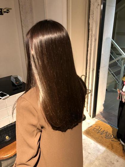 人気No.3✨髪質改善縮毛矯正&ダメージレスカラー🌿✨カット➕髪質改善縮毛矯正➕イルミナカラー➕トキオトリートメント