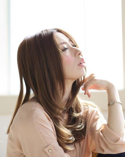 パーマをかけずにあえて 自然に!カラーはベージュ系で エレガントに!大人スタイル☆ Dahlia所属・福田勝也のスタイル