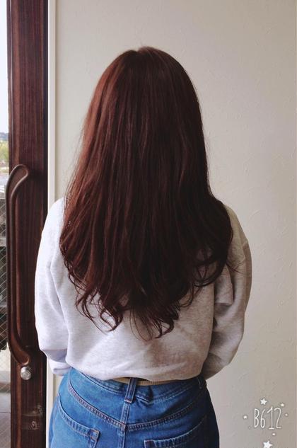 スカーレット色で春だして見ました♪ dolce  hair所属・諏訪園寛子のスタイル