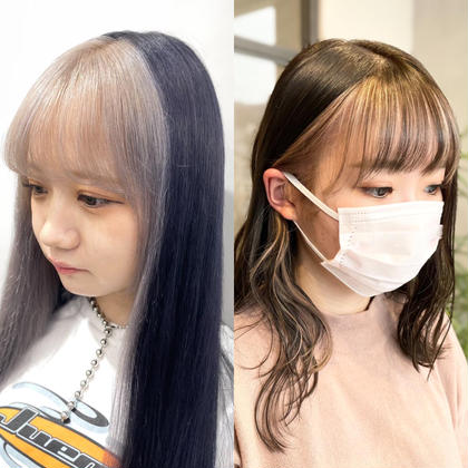 【韓国風ブリーチ🇰🇷】フェイスフレーミングカラー(顔周りインナーブリーチ+カラー)+ナノトリートメント