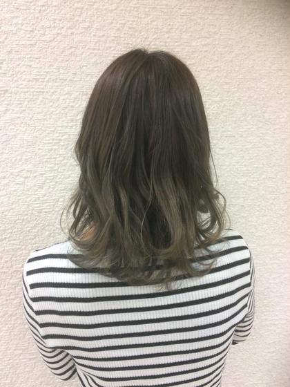 毛先のブリーチを生かしてグラデーションに NEO hair design所属・膳佑輔のスタイル