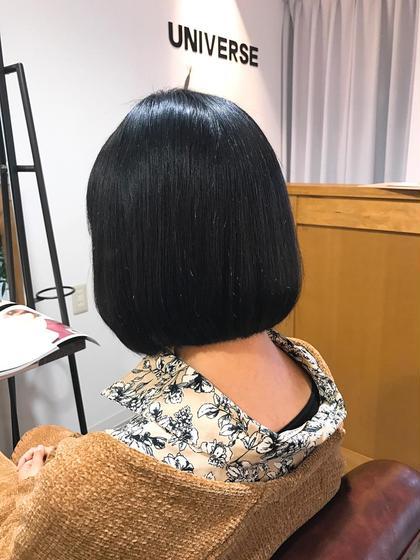 カラー 黒髪ボブ★
