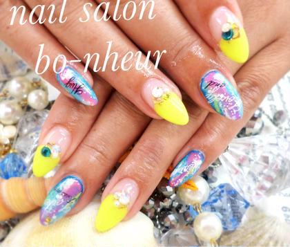 付け放題コース✨付け放題コースのsampleから選んで頂いたデザインです✨ nail salon  bo-nheur(ボ・ヌール)所属・瀬戸望見のフォト