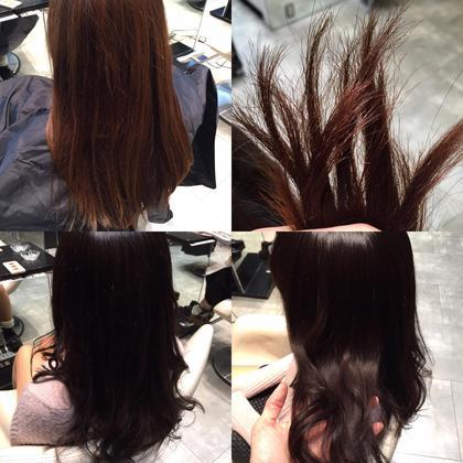その他 カラー セミロング ミディアム ロング ビフォー&アフター☆  カラーしてo-gaトリートメントで髪サラサラ❤︎