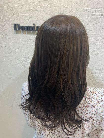 カラー(黒染めからの明るい髪の毛)➕トリートメント