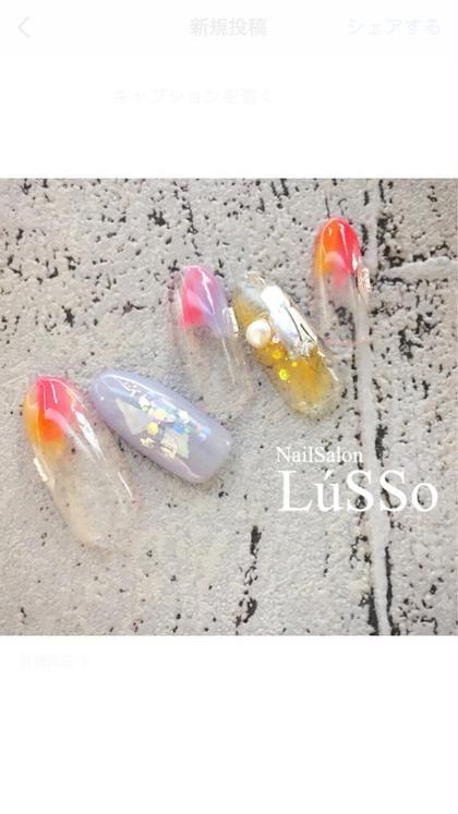 可愛いカラーを使用したニュアンスネイルです! とっても人気なデザインです! LúSSo(ルッソ)所属・島田早紀のフォト