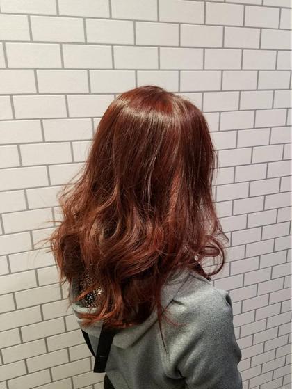 赤みのあるブラウン。 オーガニックカラー HAIR&MAKE    EARTH小田原所属・相良莉奈のスタイル