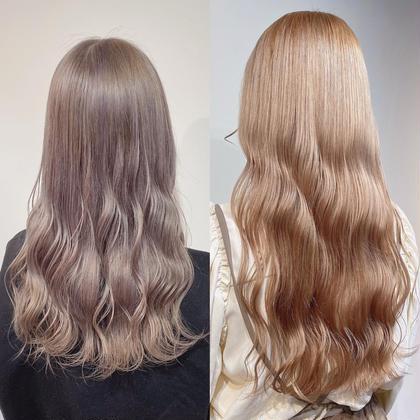 【💕話題の痛まないブリーチ💕】ダブルカラー+髪質改善トリートメント🧚🏻♀️💎無料コテ巻き付き👩🏼🎀