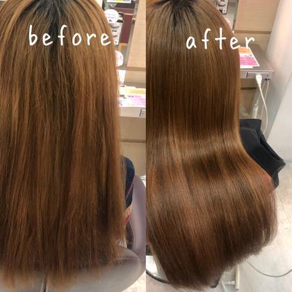 ブリーチ10回の髪に 髪質改善トリートメント