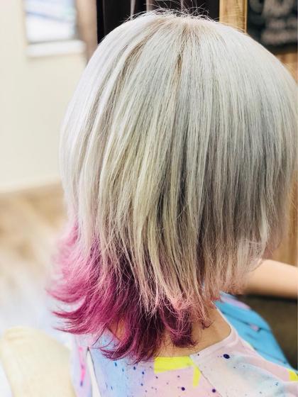 【期間限定】90%以上ダメージレスブリーチ&コレストンカラー&髪補強トリートメント