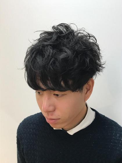【メンズ限定】セット簡単部分パーマ&カット