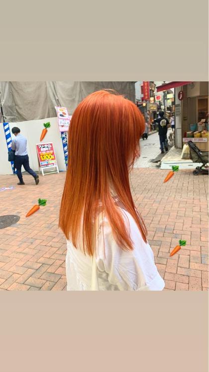 カラー セミロング ヘアアレンジ