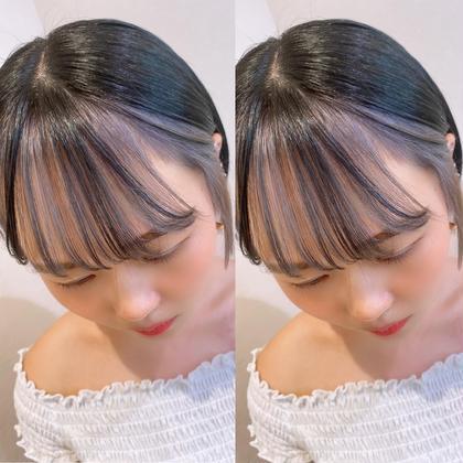🤍今流行りトレンドカラー🤍フェイスラインカラー+ブリーチ+前髪カット