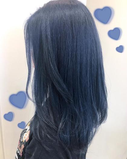 暗髪♡ネイビーカラー♡大人気 関口三都季のヘアカラーカタログ