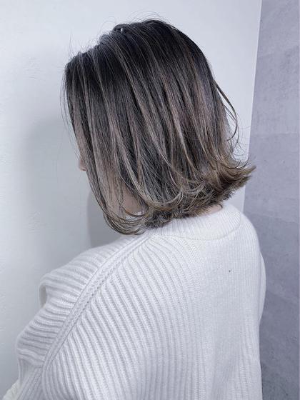前髪カット+イルミナorアディクシーorN.+3Dハイライト(入れ放題)+5ステップTOKIOトリートメント
