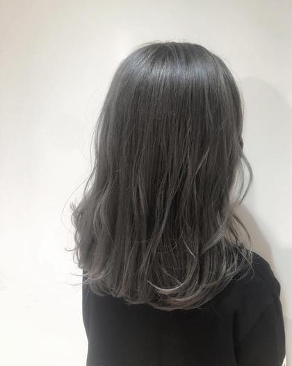 透明感抜群✨ホワイトブリーチ & カラー & シルクトリートメント
