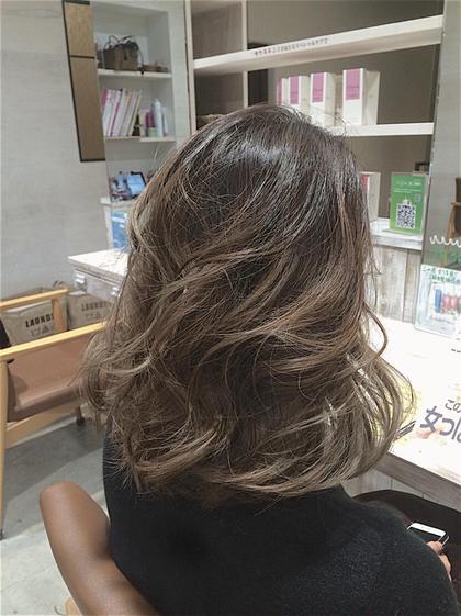 コールドアッシュ♡グラデーションカラー ダブルカラーでいつもと違うヘアカラーへ! 木原得意のグラデーションカラーです♡ ca'livio hair所属・木原和樹のスタイル