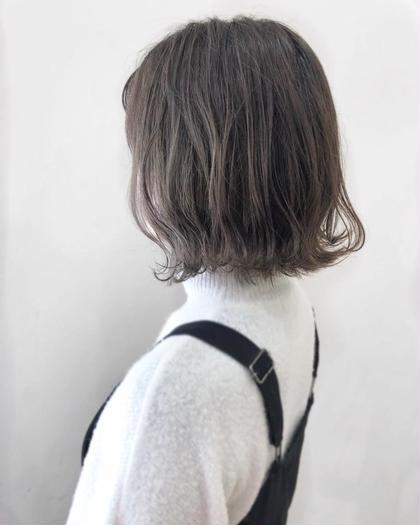 【人気メニュー*似合わせカット+透明感カラー+Tr】