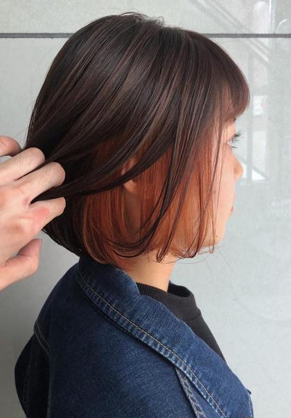 🎊人気沸騰🎊カット & インナーカラー〈ブリーチあり〉ヘアカラー&髪質改善トリートメント