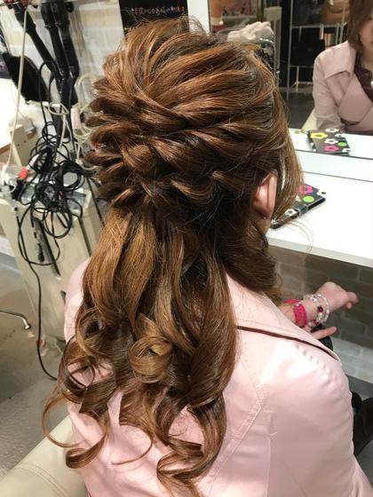 モコモコハーフアップ! hair&make 8LAMIA8所属・hair&make8LAMIA8のスタイル