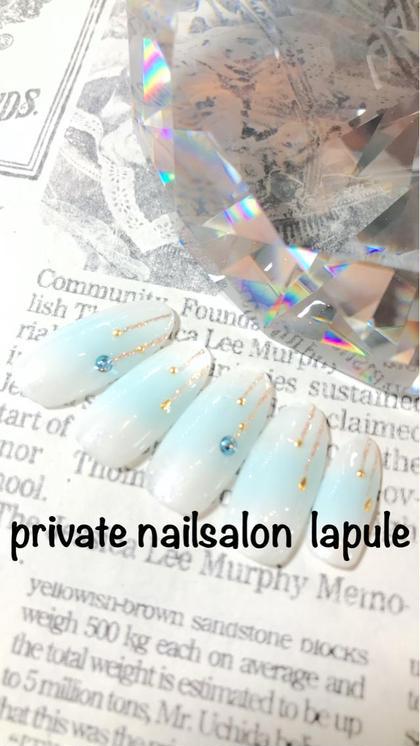 ななめチークネイル パラジェル203色よりカラーチェンジ 出来ます♡ privatenailsalon lapule所属・羽石真莉奈のフォト