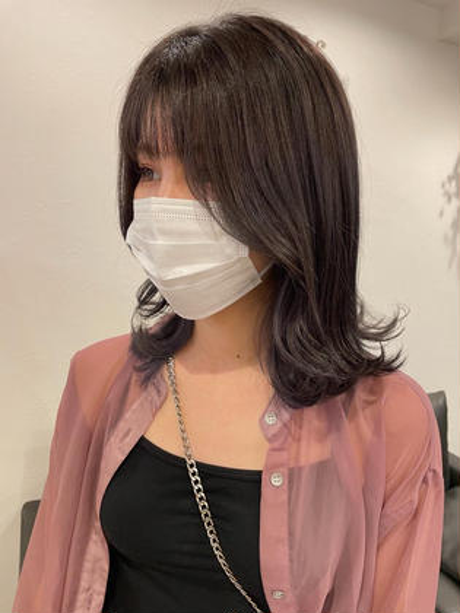 【雰囲気チェンジ🍐】デザインカラー+艶カラー(ブリーチ込み)
