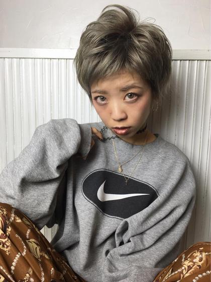 オン眉アシメバング×ショートレイヤー アンククロス表参道-harajuku-所属・大野菜摘のスタイル