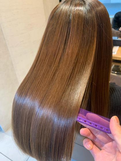 🔷1日1名限定🔷低ダメージ縮毛矯正+髪質改善酸熱トリートメント+最高級3stepトリートメント