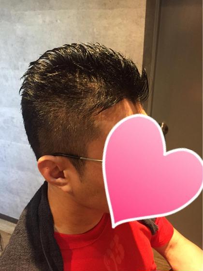 刈り上げ、ベリーショート、 サイドが2ブロック、刈り上げですっきりさせて アップバングですっきりと hairresort  Ai所属・豊里美希のスタイル