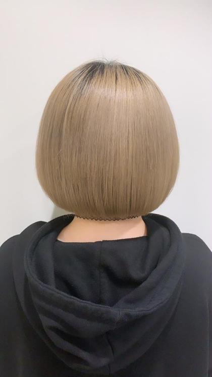 [初回]ショートボブor肩上ボブカット+上質カラー+トリートメント💫(韓国系は韓国メニューお選び下さい)