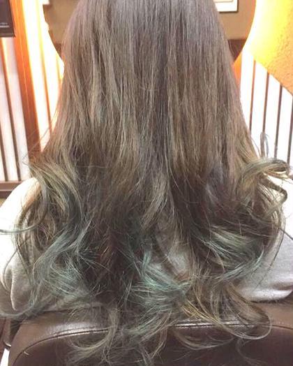 カラー ショート セミロング パーマ ヘアアレンジ ミディアム メンズ ロング ブラウンとモスグリーン