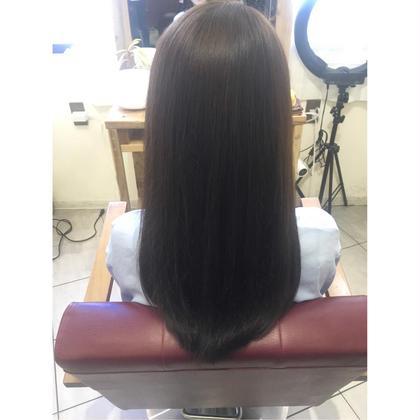 ❤︎ アッシュ 8トーン ❤︎ 長南磨依のロングのヘアスタイル