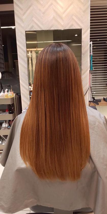 その他 ロング 髪質改善トリートメント+カット 縮毛矯正まではしたくないけど髪の膨らみやパサつき、緩いうねり等気になる方はおススメです!