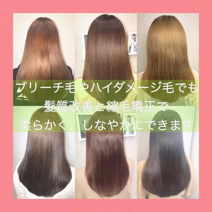 【クセが強い方、柔らかく艶のある髪質にしたい方】髪に優しいプレミアム縮毛矯正➕韓国最新カット➕ TOKIOトリートメント