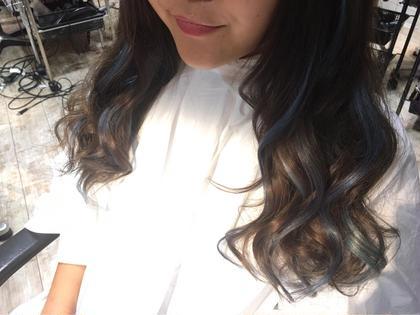 カラー ショート セミロング ミディアム ロング 2色のブルーエクステ(^◇^)☆ 編み込みエクステ20本