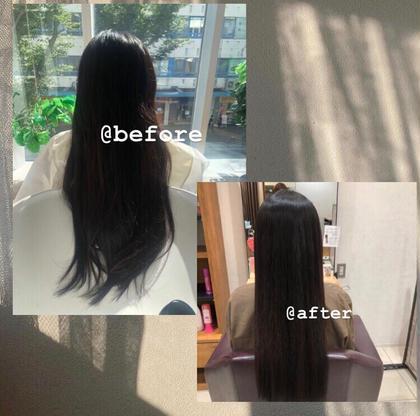 🗝縮毛矯正+前髪カット+炭酸泉+ハホニホトリートメント