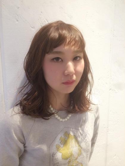 バング短めカジュアルセミスタイル♡  ca'livio hair所属・木原和樹のスタイル