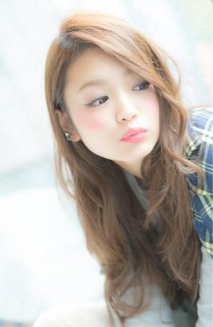 ヌーディベージュ☆ ロングスタイル☆ LOUIMADNA栄店所属・NARUOKAHIDEHITOのスタイル