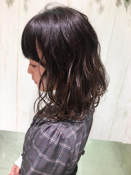 切りっぱなしボブ×波ウェーブ‼️ ✅人気No.1サロン🌈店長 川端 裕司のショートのヘアスタイル