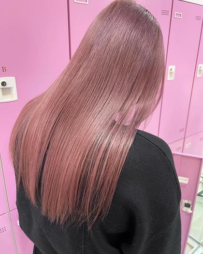 ✨圧倒的なツヤ髪に✨ダブルカラー+プリンセストリートメント(ブリーチ1回込)#髪質改善#韓国#ハイトーン
