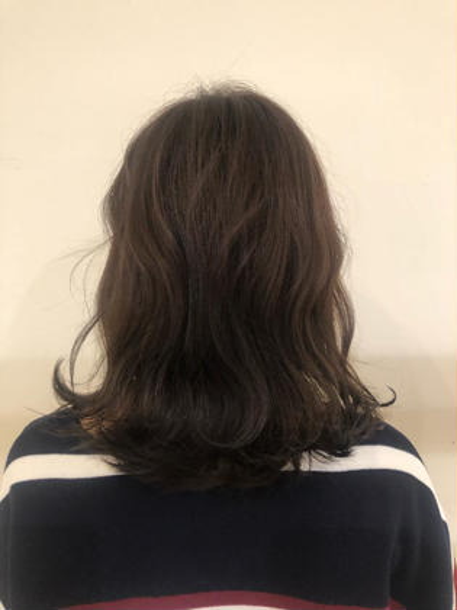 💐艶カラー(リタッチ)+カット+髪質改善ハホニコTR