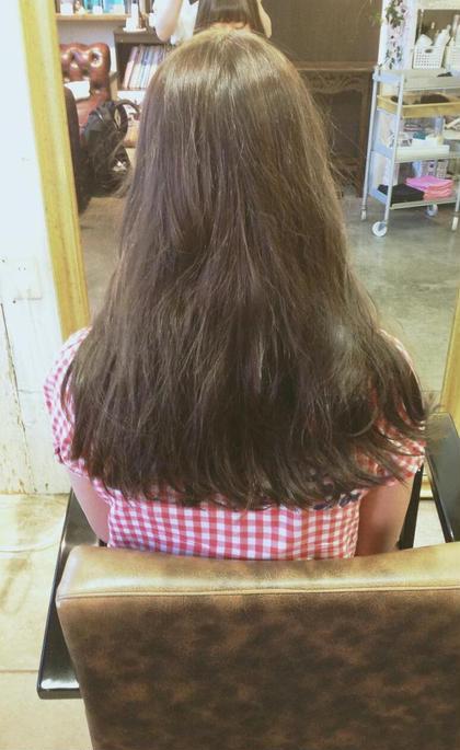 細毛さんには、透き通るようなオリーブアッシュを e-style GARDEN 所属・いまむらさきのスタイル