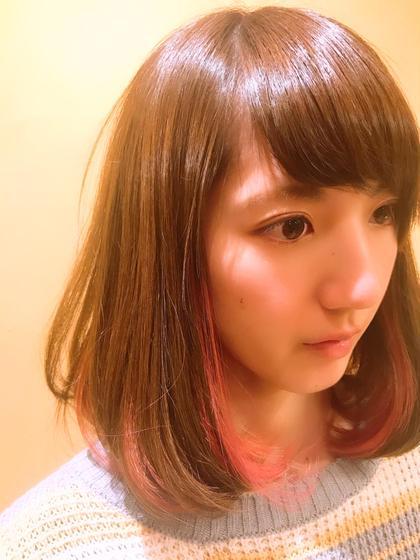 インナーカラー ピンク 美容室 K-1所属・山口卓恭のスタイル