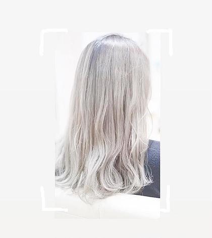②Wカラー(ブリーチ+全体カラー)