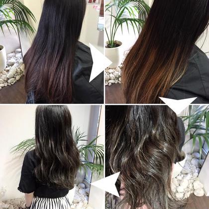 先日のお客様(^^)黒染めが少し落ちてきて、赤味がすごかった〜(´Д` ) グラデーションになるようにハイライトを入れて、オンカラーして完成です♪♪黒染めからでも綺麗にグラデーションできますよ〜(^^) moana hair所属・西村孝宏のスタイル