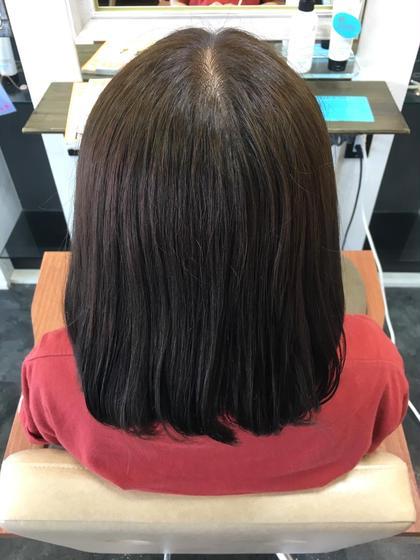 カラー後のトリートメントでツヤツヤに❣️ cropes大船西口店所属・矢野文香のスタイル